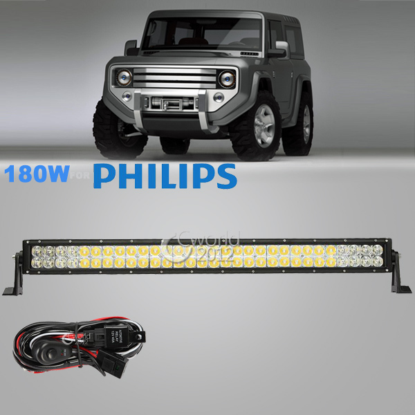 32 Inch 180W for Philips LED Work Light Bar 12V Spot Flood Lamp Combo 4x4 Off Road ATV Truck Car Roof Driving Light Mounts Cheap(China (Mainland))