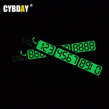 Temporary Parking Card Luminous Phone Number Card Plate Car Styling For ford focus 2 3 volkswagen polo vw mazda chevrolet cruze(China (Mainland))