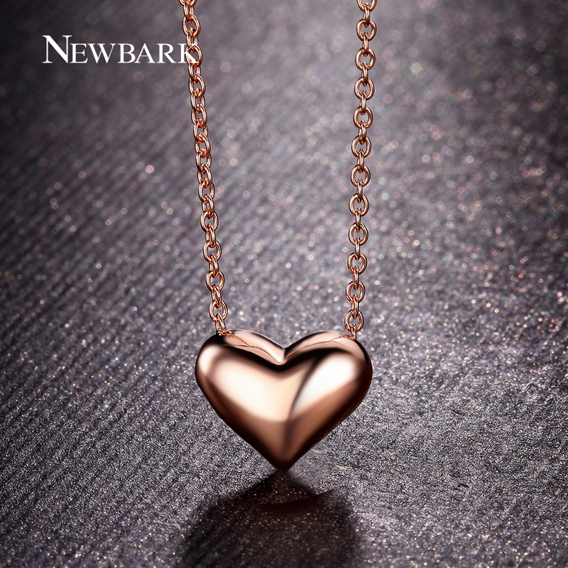 Buy newbark simple heart shaped design for What is gold polished jewelry