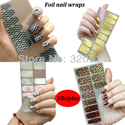 Fashion Smooth Transfer Foil Nail Art Sticker Minx Metal Wraps For Nail Beauty Self Adhesive Nail Patch Decals Nail Supplies(China (Mainland))