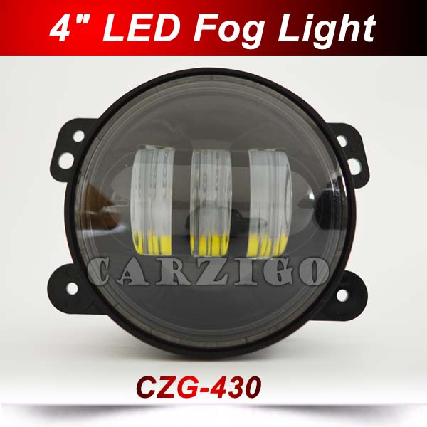 """CZG-430 4""""30w led fog lights headlights Canton Fair new/hot product 4""""LED accessories for 4*4 offroad wrangler harley motorcycle(China (Mainland))"""