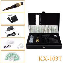 KX-103T Дракон Перманентный Макияж Бровей Губ Подводка Для Глаз Татуировки Машины Мозаики Комплект Косметическая Ручка Педаль Иглы Советы Питания(China (Mainland))