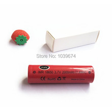 Free Shipping for High Power IMR 18650 2000mah 3 7V 7 4WH rechargeable Dynamic lithium ion