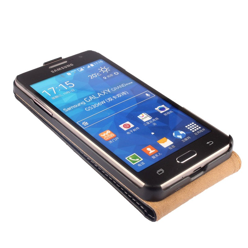 Real Genuine Leather Flip Case Cover For Samsung Galaxy ...