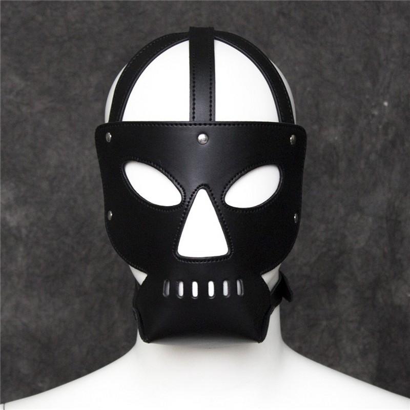New erotic mask for Adult /Bondage Pu leather Mask /Men Slave fetish hood /EM.01083<br><br>Aliexpress