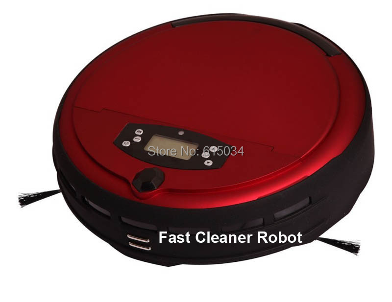 (Free Shipping for Russian buyer)Voice Function Robot Vacuum Cleaner Wet and Dry Moping With Schedue,Two Side Brush,0.7L Dustbin(China (Mainland))