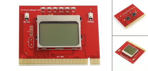 PCI Motherboard Debug Repair LCD Test Post Card Red for PC Desktop(China (Mainland))