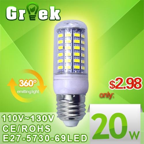 High power 110v 127v E27 B22 Led lamp Light Bulb Spotlight 3W 5W 7W 9W 12W 15W 25w 30w 50w LED corn Bulb Lamp Cold Warm White(China (Mainland))