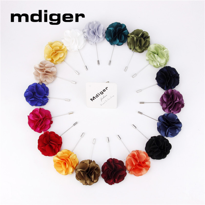 Mdiger Corsage Brooch Pin Handmade Cloth Flower Shape Brooches For Wedding Satin Brooch for Women Men's Suit Lapel Pin Wholesale(China (Mainland))