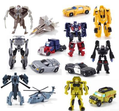 Free Shipping Transformation 7pcs/lot Kids Classic Robot Cars Toys For Children Action & Toy Figures Toys For High Quality(China (Mainland))