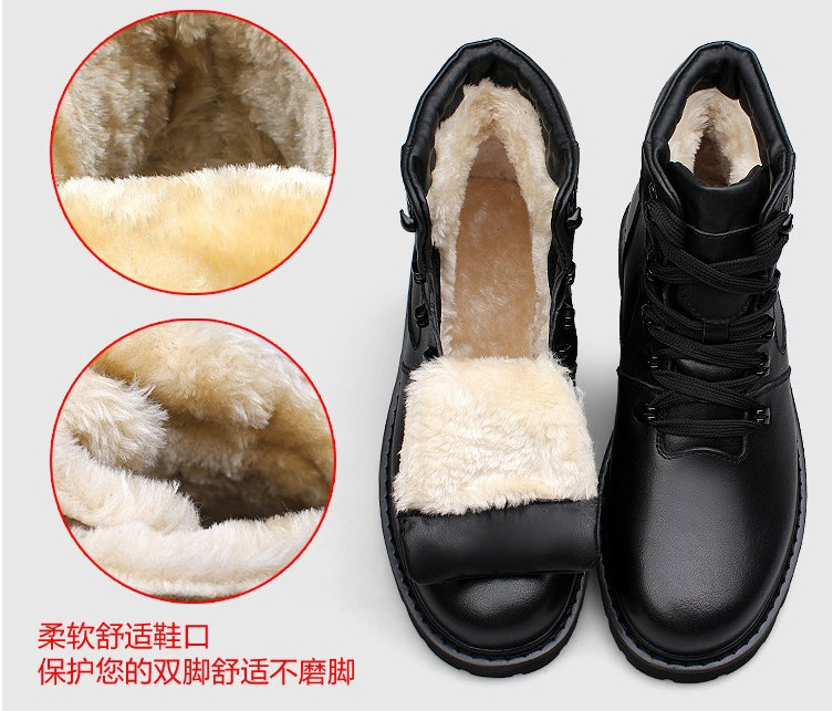 2015 size 37~48 Handmade winter boots for men plus size Cowhide mens luxury boots peret Rabbit fur ankle boots