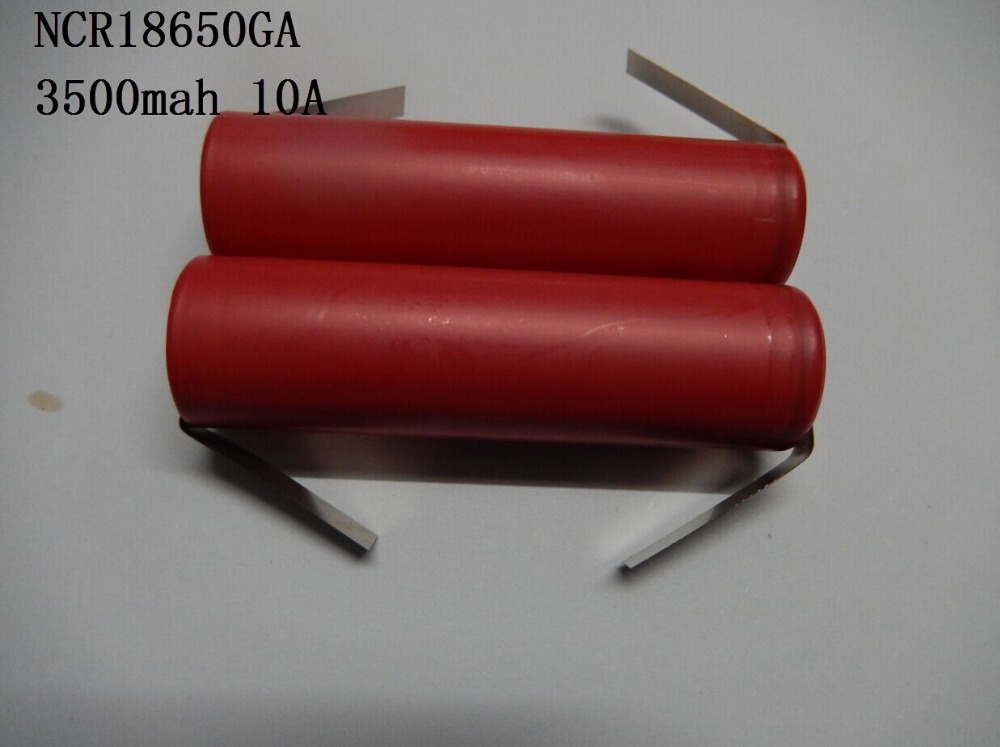 (200pcs/lot freight free)SANYO 18650 3500mAh NCR18650GA high rate battery cell 10A 18650GA with tabs(China (Mainland))
