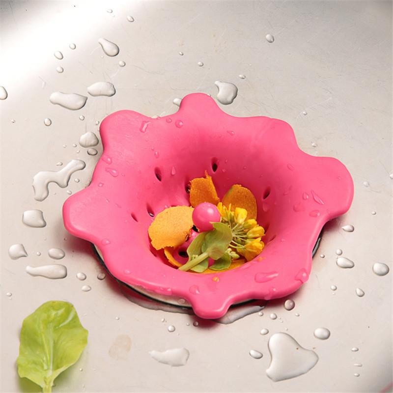 Flower design Bathroom Shower Bath Basin Kitchen Sink Drains Strainer Filter Waste Fair Cover Stopper Floor prevent Clogging(China (Mainland))