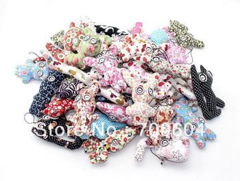 Hot sell! Cute button doll Mobile Phone Handbag KeyChain Strap bag charm Pendant, random delivery, orignal from factory