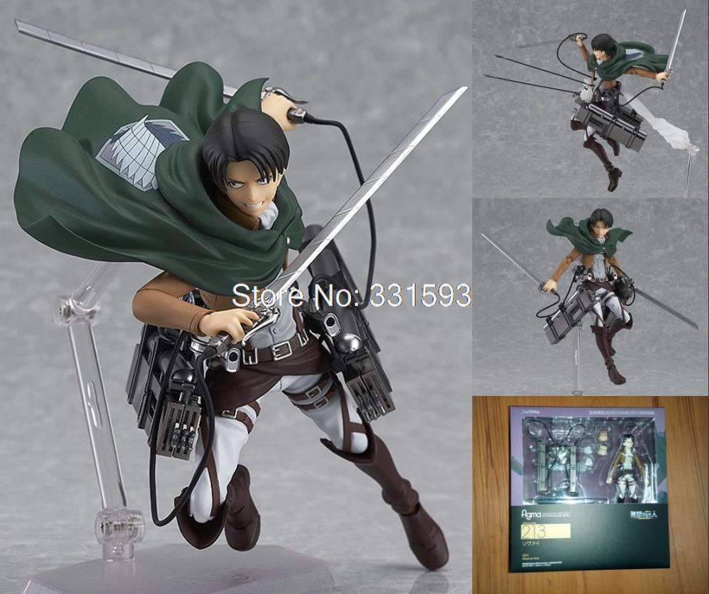 """Toys Attack on Titan Shingeki no Kyojin Rivaille Figma 213 Boxed s Toys CollectionPVC Action Figure Models 6"""" 14CM(China (Mainland))"""