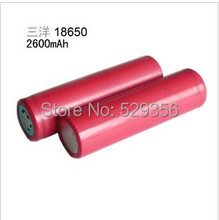 2 PCS sanyo 18650 lithium battery 2600 mah battery 3.7 V digital battery LED flashlight batteries
