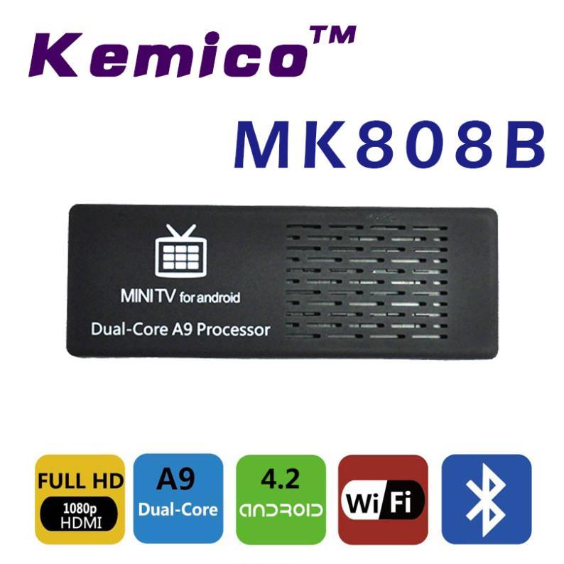 TV Stick Kemico MK808 B Android 4.2 xBmc /TV Stick /1g DDR3 8G Bluetooth WIFI TV Box media player MK808B телеприставка mk888 5pcs b bluetooth rk3188t 4 4 2 2 8 tv stick page 1 page 3