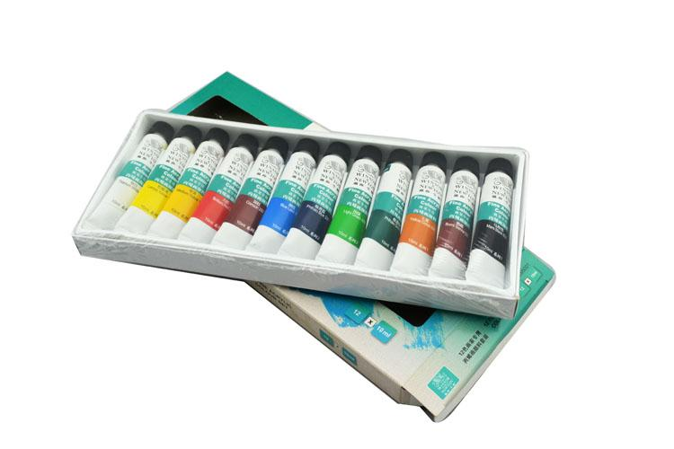 Winsor&Newton brand 12 colours Acrylic Paints fine painting supplies 10ml/piece(China (Mainland))
