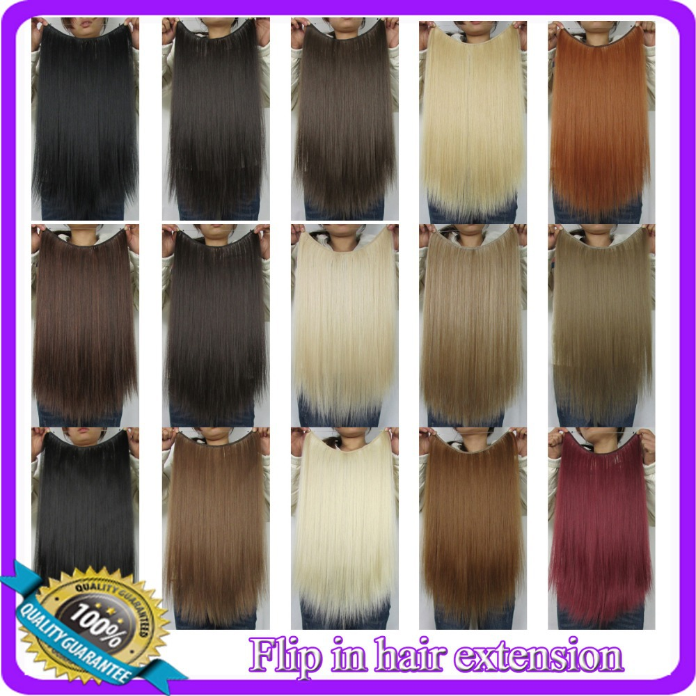 """20"""" (50cm) 50g straiht Flip in hair extension hairpiece hair pieces accessories 20 colors available(China (Mainland))"""