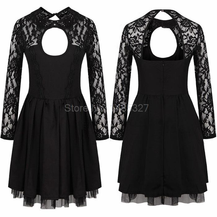 Open-back Cute Dress Europe & United Summer Fashion A-line Black Sexy Women Casual Hollow - Sunny Technology Co., Ltd store