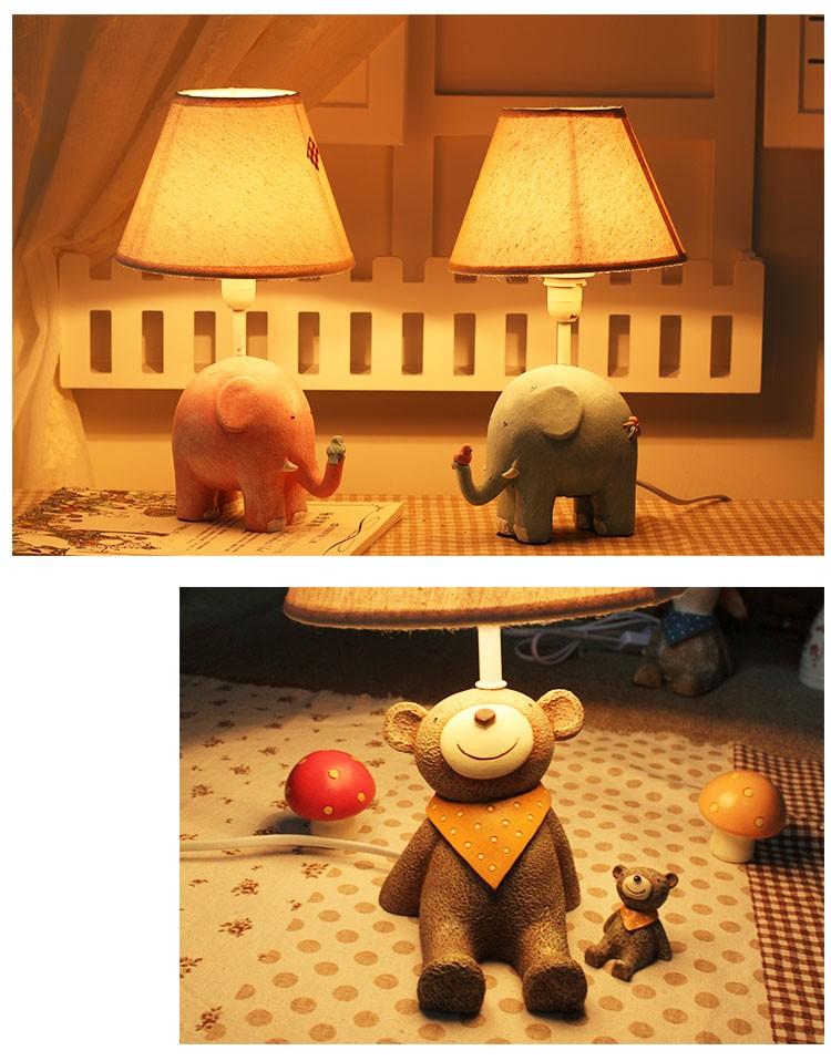 Купить Милые Животные Смотреть На Небо Мультфильм Милый Детская Комната Настольный Ночные Огни, дети Настольная Лампа, Как Подарок На День Рождения Украшения
