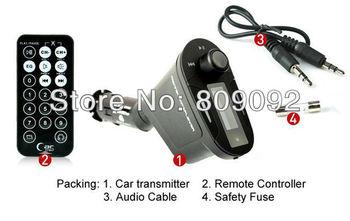Car KIT MP3 Player Wireless FM Transmitter Modulator LCD USB SD MMC With Remote