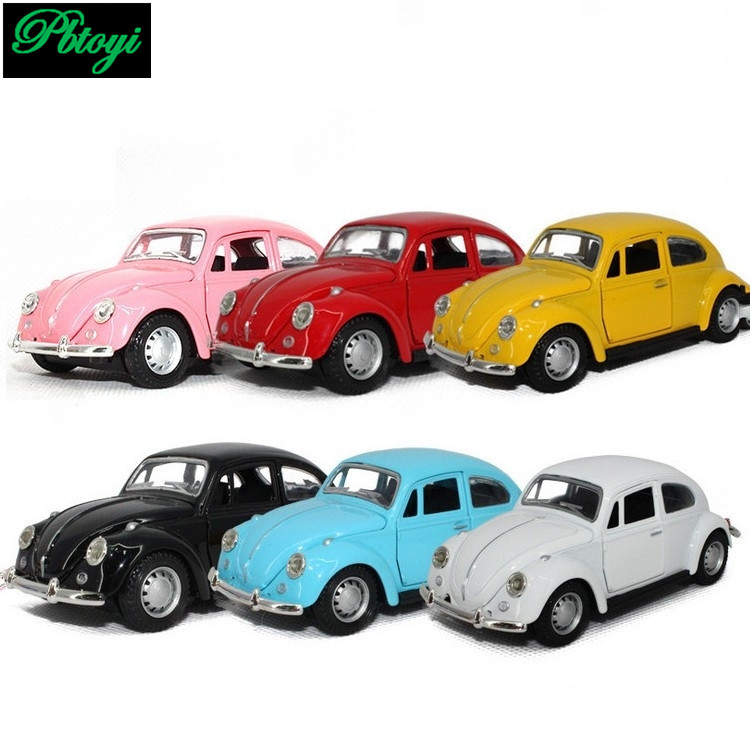 Free Shipping Vintage Classic Cars Police Model Car Alloy Baby Educational Scale Models Cheap High Quality Beetle Car Toys F1022(China (Mainland))