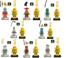 2016 New 1Decool Mini Figures Cole Kai Jay Zane Golden Ninja Building Blocks Set Minifigures Bricks Toys Compatible Legoe - My Happy Shopping Mall store