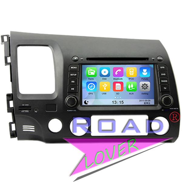 Car entertainment GPS Navi for Hond Civic Left Dirve 2006-2011 Bluetooth Video Radio RDS Phonebook AUX Ipod Stereo Audio TV(China (Mainland))