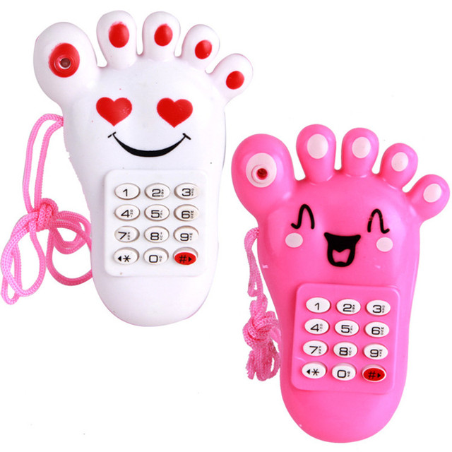 2016 new Baby Phone Toy Simulator Music Phone Touch Screen Children Toy Electronic cartoon phone  Top Quality