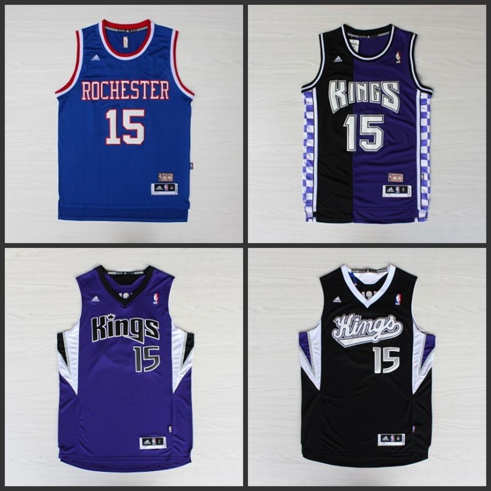 Best Quality 2015 New Arrivals .NBA Caps SACRAMENTO KINGS Jersey NBA #15 DeMarcus Cousins Jersey Dolls(China (Mainland))