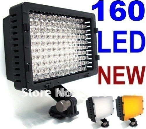 Free Shipping+Drop Shipping  CN-160 160 LED Video Light DV Camera lCamcorder Lighting 5400K For Cacon Nikon Camera Light