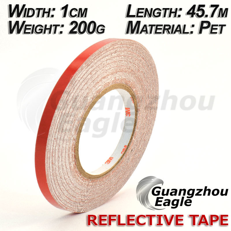 free shipping 1CMx45.7M red reflective car stickers car reflective film for car and motorcycle decorative 10pcs/pack TM4001(China (Mainland))