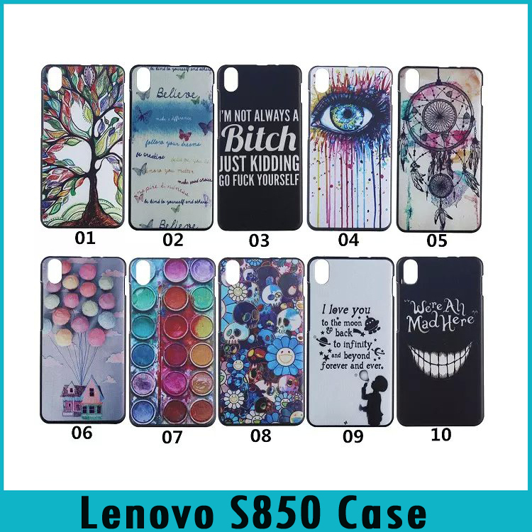 Lenovo S 850 Case Fashion Painting Style Colorful Printing Drawing Skin Hard Back Cover Case For Lenovo S850 Mobile Phone Cases(China (Mainland))