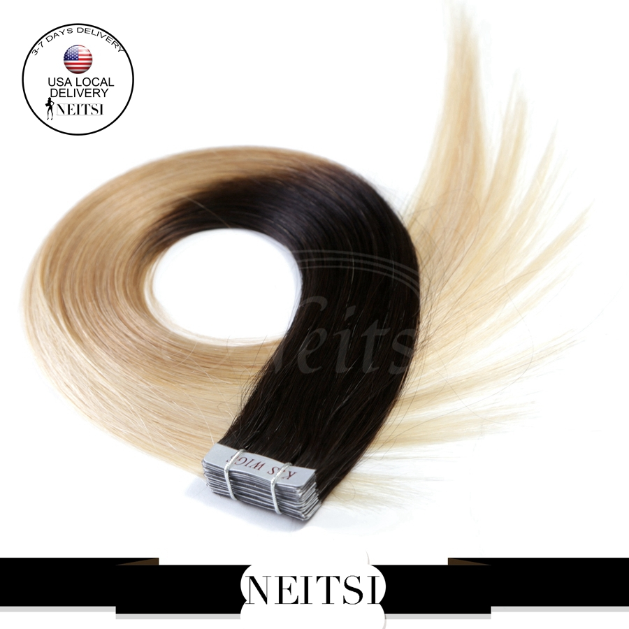 Remy Human Hair Tape In Extensions 104