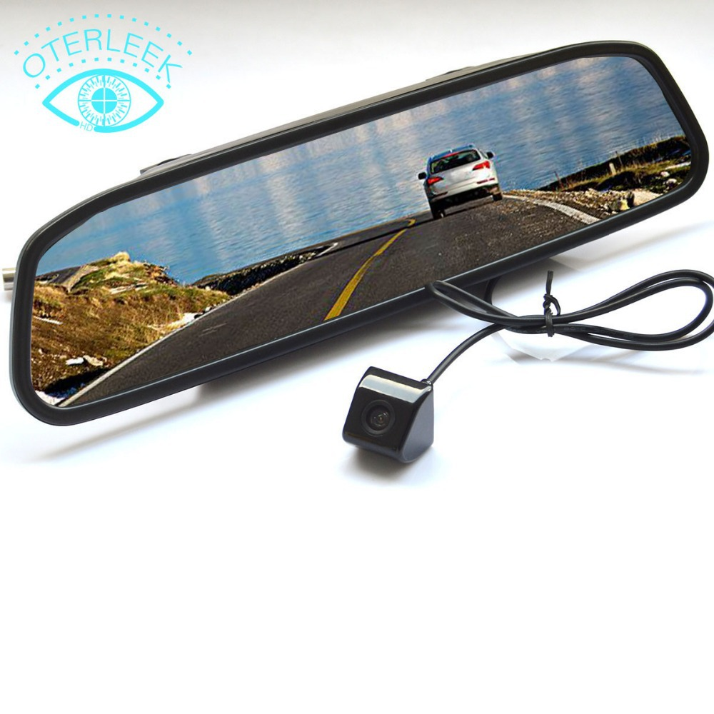 """4.3"""" Screen TFT Best-Selling Car LCD Rearview DVD Mirror Monitor with Backup Camera For AUDI(China (Mainland))"""