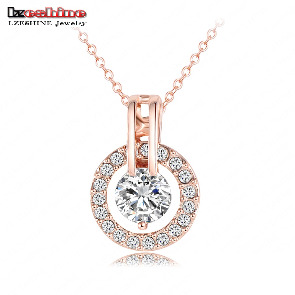 Гаджет  LZESHINE Brand Circle Round Pendant & Necklaces 18K Rose Gold Plated 2014 New Christmas Jewelry Pendant Top Quality NL0455-A None Ювелирные изделия и часы
