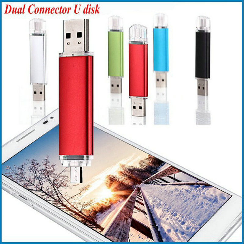 Honest business ! Dual Connector USB stick 128GB 2G 4GB 8GB 16GB 32GB 64GB Pen Drive Gift USB Flash Disk USB flash drive(China (Mainland))