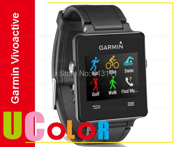 Genuine New Garmin Vivoactive Triathlon GPS Sports Swim Smart Watch Black(Hong Kong)