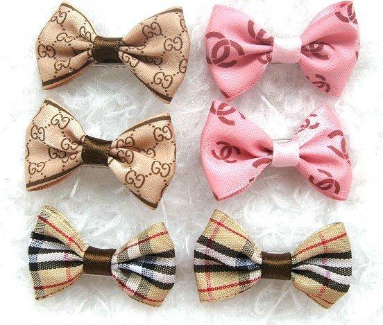 Free shipping,Wholesale 50 pet bows,Ribbon Hair bow,dog barrette,pet clip mix design