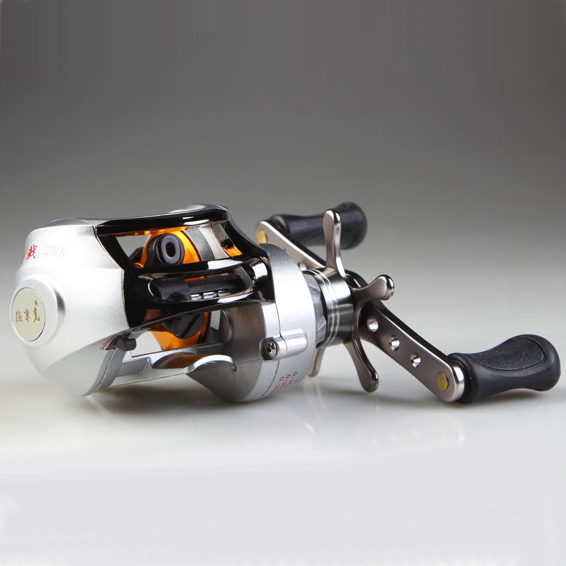 FREE SHIPPING Dynamic low profil baitcasting reel drop round lure wheel 10 bearing hand wheel fasion white color<br><br>Aliexpress