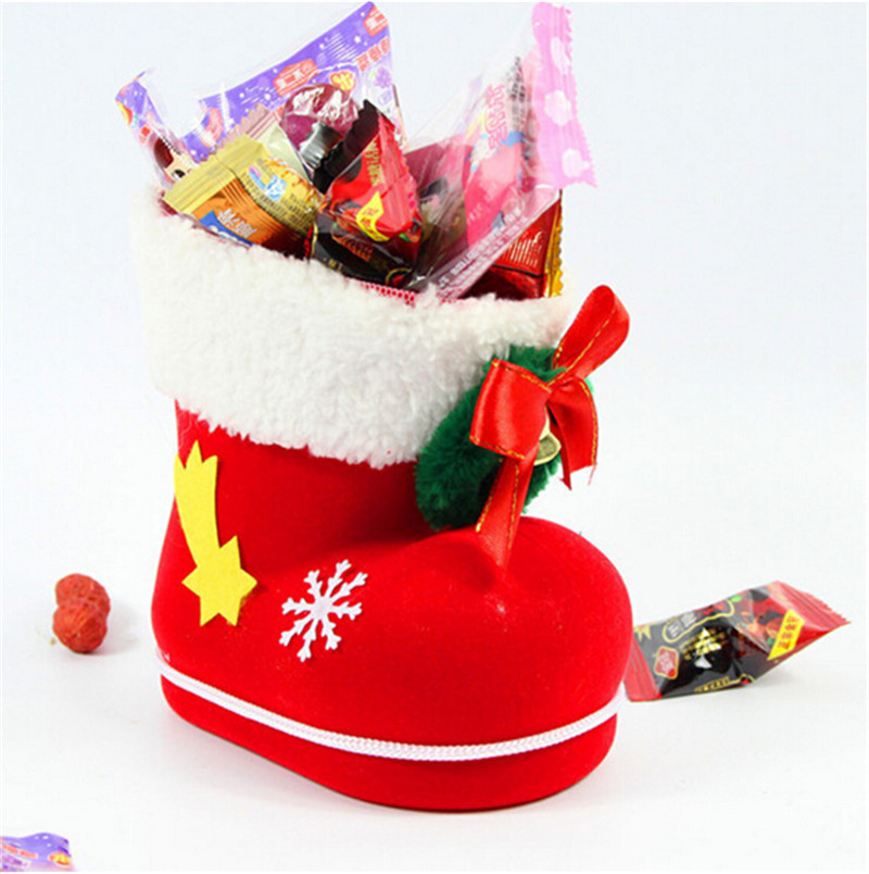 Wholesale 2015 new arrival christmas stocking boot Latest christmas decorations