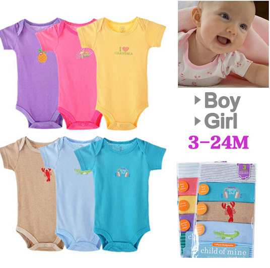 2015 Summer Boutique 5 Pcs Baby Romper Girl's Fashion Cotton Toddler Jumpsuit,Infant brand Clothing Set Wear 5 Pieces(China (Mainland))