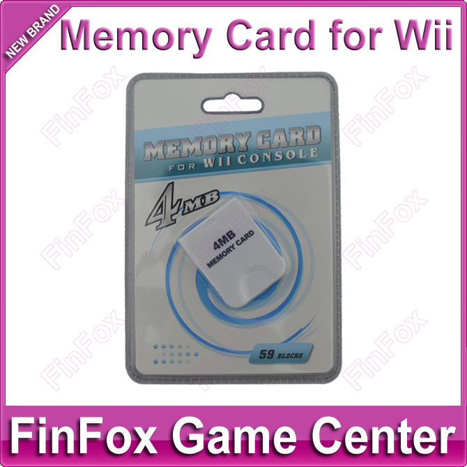 100pcs a lot Wholesale 4MB Memory Card for Wii and for GameCube(China (Mainland))