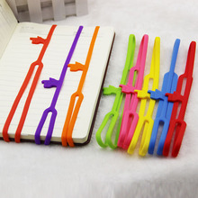 1pcs New Cute Silicone Finger Pointing Bookmark Book Mark Office Supply Funny Gift(China (Mainland))