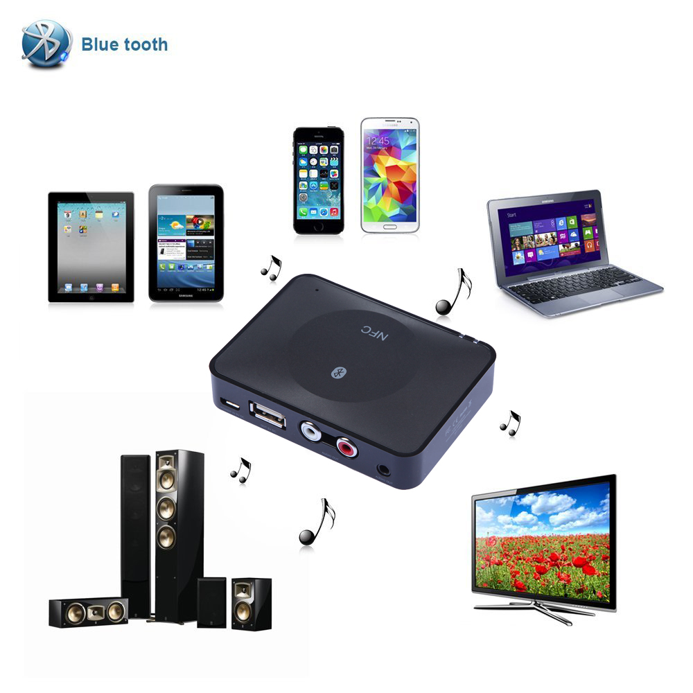 NFC Bluetooth Audio Receiver for Sound System / Bluetooth receiver/ Most Speakers NFC-Enabled Bluetooth HD Music Receiver