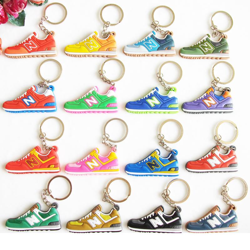 Cute New Balanceer 574 Keychain Key Chain , Sneaker Keychain Kids Key Rings Women Key Holder Chaveiro Llaveros(China (Mainland))