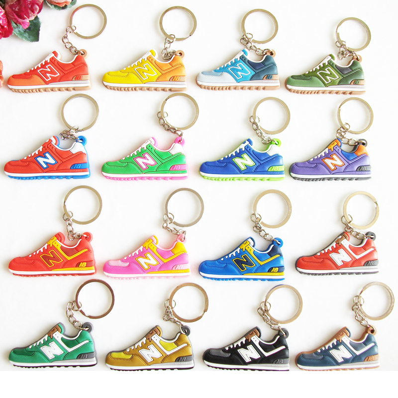 Novelty cute zapatillas new balanceer 574 key chain mujeres, sneaker keychain kids key rings women key holder chaveiro llaveros(China (Mainland))
