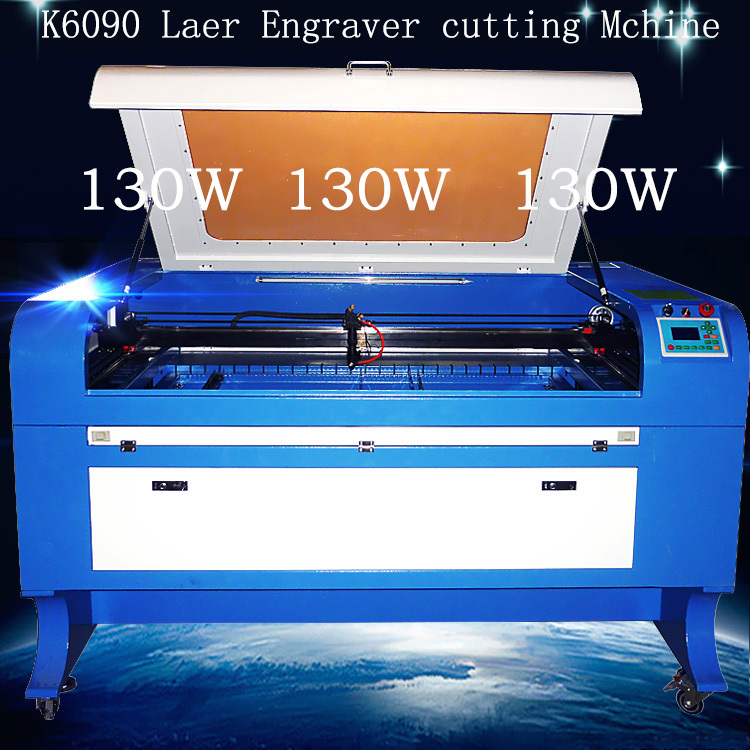 Chduino 130W K6090 Laser Engraver Cutiing Machine Weight 340KG Factory outlets Inner rails Laser output system(China (Mainland))