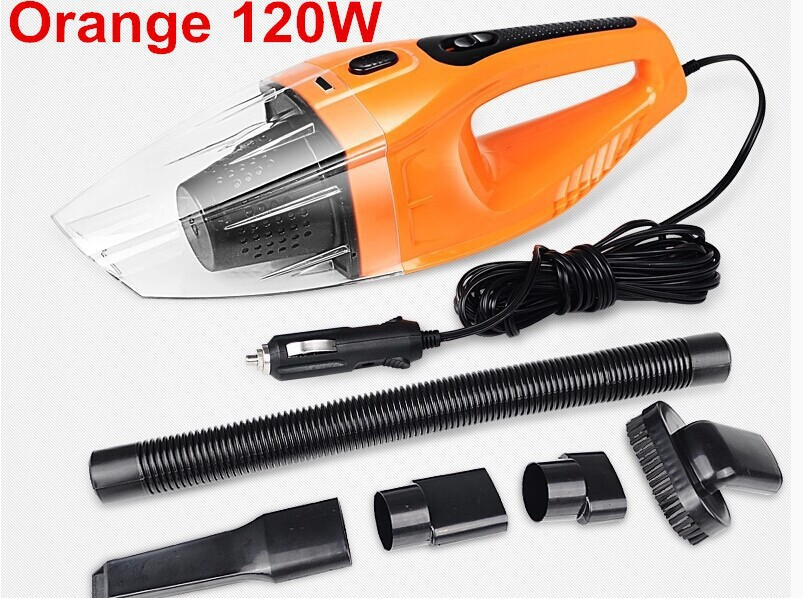 Free Shipping Car vacuum Cleaner of Portable Handheld Wet & Dry Dual-use Super Suction 5meters 12V, 120W strong power black,red(China (Mainland))
